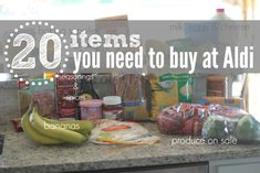 20 Items you need to buy at Aldi!  If you have and Aldi you need to read this article.
