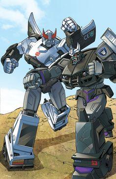 Transformers: Prowl VS Barricade by ZeroMayhem.deviantart.com on @DeviantArt