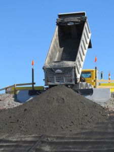 Duke Energy begins delivering coal ash to a mine in Chatham County (photo by Duke Energy)