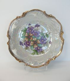 Bavarian Plate Porcelain Plate Bavaria Violets by MicheleACaron