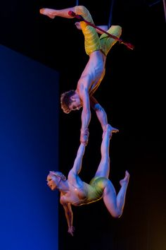 punctuated by traditional cirque-skills throughout ... Duo Trapeze from Totem, Cirque du Soleil. Saw this show last year and it was superb!