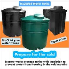 Ecosure Insulated water tanks made with extra thickness and also contain a polyurethane spray foam within the tank to prevent the water in the winter months from freezing. Ecosure tanks are made with extra thickness and designed to be durable and strong. www.potablewatertanks.co.uk