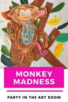 My second graders love this monkey project. It is so versatile and easy enough for even a substitute to get started. This monkey art project for kids is always a big hit!