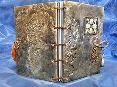 Metal Book Soldered Book Copper Metal Pewter Book Unique