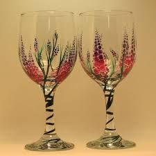 Image result for images for painted wine glasses
