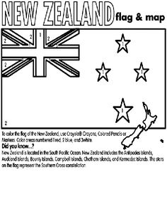 New Zealand coloring page Geography For Kids, Teaching Geography, Teaching Kids, Waitangi Day, Gs World, New Zealand Flag, Nz History, Chatham Islands, Flag Coloring Pages