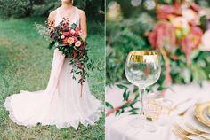 gold wedding details - photo by Milton Photography http://ruffledblog.com/blooming-wedding-inspiration