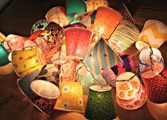 Taylor Made: Mini Fabric Lamps
