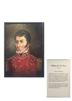 Óleo a Antonio José de Sucre en Casa Museo Batallón No. 14 de Infantería - Quinta Brigada del Ejército de Colombia