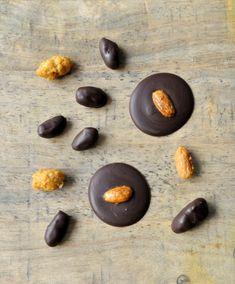 Mendiants amandes chocolat