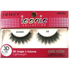 3695e52c340 Kiss i-ENVY iconic Collection Chic Icon 3D Angle Eyelashes 1 Pair Pack -  iconic 02 #KPEI02
