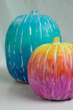 Create cute, spooky, or funny Halloween pumpkin decorations without the danger of sharp cutting tools. See all 19 carve-free decorating ideas at This Old House. Pumpkin Colors, Pumpkin Art, Cute Pumpkin, Pumpkin Crafts, Pumpkin Ideas, Pumpkin Painting, Fall Crafts, Painting Pumkins, Pumpkin Designs