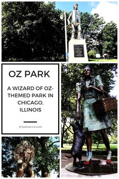 Oz Park in Chicago, Illinois (A Wizard of Oz-Themed Park) - Silly America Road Trip Photography, Chicago Photography, Road Trip Map, Road Trip Hacks, Cowardly Lion, Chicago Neighborhoods, Chicago Travel, Road Trip Essentials, Tin Man