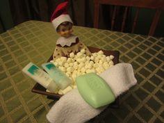 Jingle takes a bath
