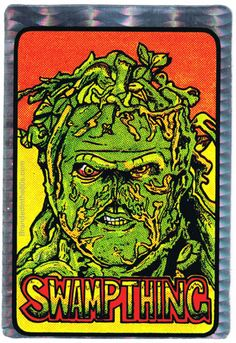 Swamp Thing Vending Machine Prism Sticker