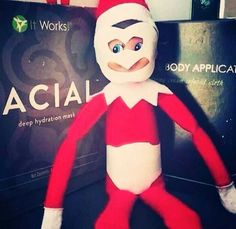 Elf on the shelf is at it again! Doesn't he know he could get his own wraps at a huge discount as a Loyal Customer? Silly elf.