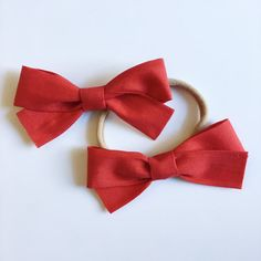 $9   School Girl Classic Red Bow with Nylon Band or Alligator Clip, Valentine, baby, newborn, infant, preemie, one size fits most, toddler, baby bows, baby shower, birthday girl favor, girl birthday, stretchy headband, ever iris, ever iris designs, everirisdesigns, christening, wedding, baptism, blessing day, it's a girl, its a girl, etsy, for girls, boutique, nylon band, shop small saturday, Christmas gift for girls, stocking stuffer for girls, present, petite, accessories, fabric bow…