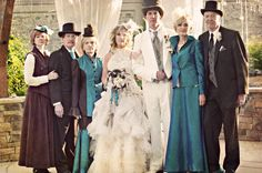 We choose a Neo-Victorian theme because we wanted to weave both a sense of classic tradition and fun,funky detail to our wedding. Our closest friends and familydonated their time and talents towards making our wedding day the best day of our lives.    http://onthegobride.com/2012/07/reno-nevada-wedding-morgan-don/#
