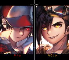 Red and Gold - Pokemon by 河CY