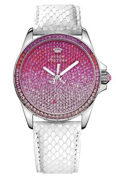 Juicy Couture Stella Crystal Embellished Watch, 40mm | Nordstrom