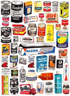 Vintage advertising and other cool retro stuff - found in my mother's basement, flea markets and various corners of the Internet - dusted off and displayed for your pleasure by Paula Zargaj-Reynolds. Retro Ads, Vintage Advertisements, Retro Food, Retro Advertising, Vintage Packaging, Packaging Design, Food Packaging, Vintage Labels, Vintage Items