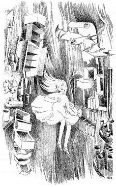 "Tove Jansson - Illustrations for ""Alice in Wonderland"" 3"
