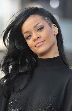 Soft pink w/  winged liner - Rihanna