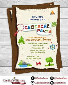 Scavenger Hunt Printable Birthday Party Invitations | Etsy Party Invitations Kids, Party Favors, Scavenger Hunt Birthday, Birthday Party For Teens, Candle Favors, Rsvp, Etsy, Printable, Damon