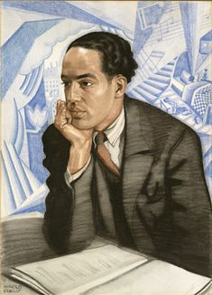 Langston Hughes by Winold Reiss, circa 1925. Pastel on illustration board. Courtesy of the National Portrait Gallery.