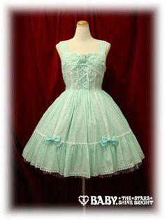 Baby the Stars Shine Bright / Jumper Skirt / Snow Dot Ribbon JSK