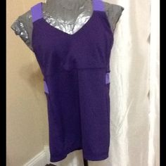 Lululemon sports top sz 8 Purple with lilac lulu sports top sz 8 excellent condition lululemon athletica Tops Tank Tops