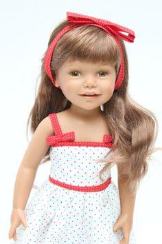 "Beautiful rare 18"" Euro Girl vinyl doll called Diana with bonnie face - Gotz | eBay"