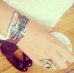 love fall!! #chloeandisabel #emerald #Sparkle #Fall #shine #bracelet #cocktailring www.chloeandisabel.com/boutique/karihamra