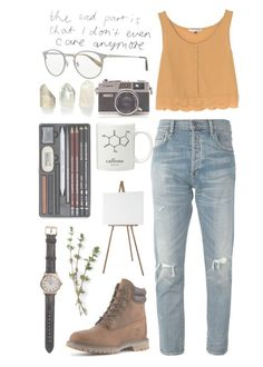 """And When She Stood, She Stood Tall"" by sierrabrett44 ❤ liked on Polyvore featuring Citizens of Humanity, River Island, Oliver Peoples, Timberland and Shinola"