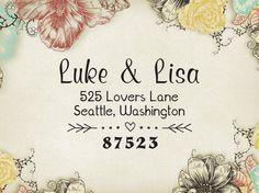 Return Address Stamp, Custom Address Label, Wedding Gift, Christmas Holiday Present, Custom Rubber Stamp, Self-inking, Self Inking Stamper 43  Return