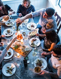 In San Francisco's foggy Outer Sunset neighborhood, Outerlands restaurant is a cozy oasis of warm food and even warmer hospitality. Dinner For 2, Dinner With Friends, Dinner Table, Fall Dinner, Williams Sonoma, Charcuterie Cheese, Eat Together, Party Photography, Photography Ideas