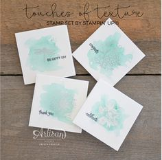 Stampin' Dolce: Touches of Texture & watercolor - Artisan Design Team Blog Hop