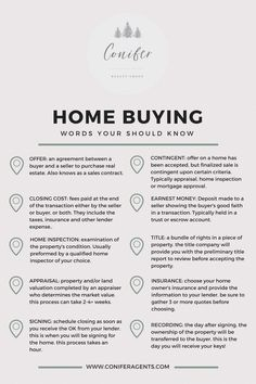 Home Buying Cheat Sheet - Buying First Home Tips - Ideas of Buying First Home Tips - First Time Home Buyer Vocab Cheat Sheet with the top 10 terms used during the Home Buying Process. Receive a free Home Buyers Guide Real Estate Buyers, Real Estate Career, Real Estate Business, Real Estate Tips, Real Estate Marketing, Real Estate Quotes, Real Estate Humor, Real Estate Branding, Mls Real Estate