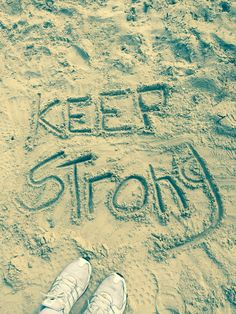 Keep Strong, Don't Give Up, Calligraphy, Lettering, Calligraphy Art, Hand Drawn Typography, Letter Writing