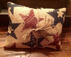 Burlap Americana pillow by hootnanniesbyjeanne on Etsy, $8.00