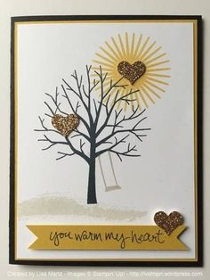 It's February...and it's cold! The color combination for this week at Create with Connie and Mary has Hello Honey in it. Makes me think of sunshine! That is what I wanted to convey with my card ...