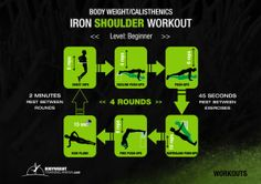 Iron Shoulder Workout | bodyweighttrainingarena.com #workouts #bodyweight