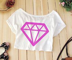 Cropped Diamond PRONTA ENTREGA - Loja Galaxy Store