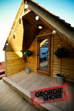 The log Pod.....  Glamping at its best..made in WALES ...see Trevor at www.thelogpod.co.uk