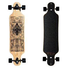 Atom Bamboo Tiki Drop-Through Longboard - 40 Inch Atom Longboards, Bamboo Longboard, Drop Through Longboard, Longboard Design, King Pin, Skater Girl Outfits, Cool Skateboards, Skateboard Girl, Longboarding
