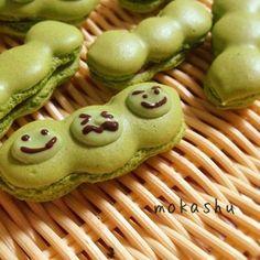 Green soybean macaroon