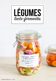 Lacto-fermented winter vegetables Mango and Salt Raw Food Recipes, Cooking Recipes, Healthy Recipes, Protein Recipes, Lactose Free Diet, Fermentation Recipes, Sicilian Recipes, Sicilian Food, Winter Vegetables