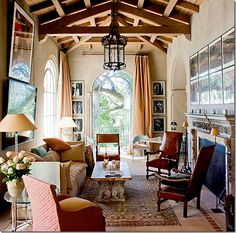 Home design and interior decorating is what VERANDA magazine is all about. Interior Exterior, Home Interior Design, Interior Doors, Beautiful Space, Beautiful Homes, Living Room Designs, Living Spaces, Living Rooms, Family Rooms