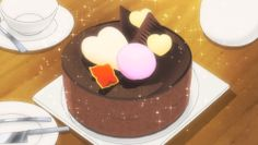 Coconia fruit chocolate cake! Log Horizon (Season 2), Episode 13