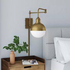 Orren Ellis Gillenwater 1-Light Swing Arm Lamp & Reviews | Wayfair